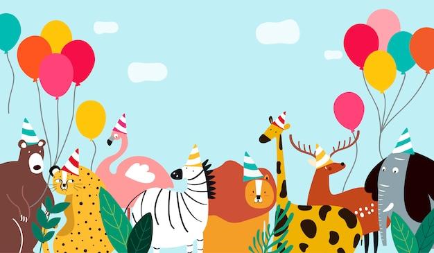 Zwierzęta motyw szablon wektor ilustracja