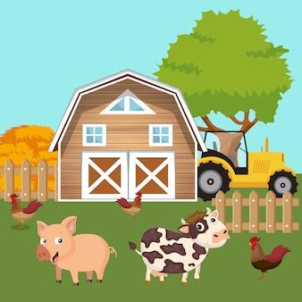 Zwierzęta na podwórzu