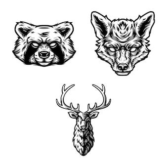 Zwierzęta projekt wektor