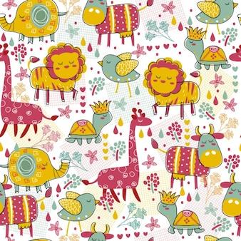 Zwierzęta tapety w kolorowym stylu