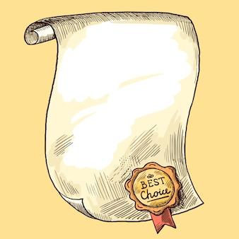 Zwój papieru z pieczęcią
