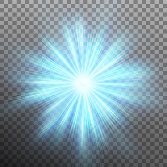 Zwolnij niebieską energię na tle wybuchu. przezroczyste tło tylko w