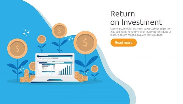 Zwrot z inwestycji roi lub koncepcja finansowania rozwoju firmy