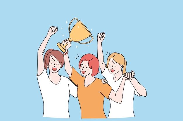 Zwycięska koncepcja zwycięstwa w świętowaniu sukcesu