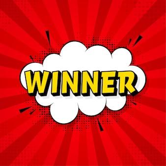 Zwycięzca 3d retro za projekt banera