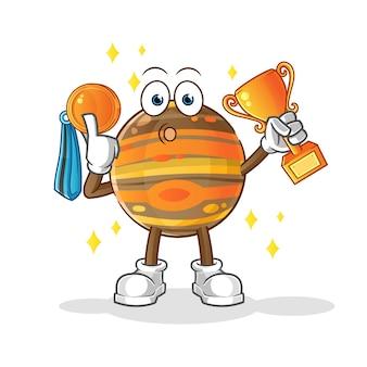 Zwycięzca jowisza z ilustracją trofeum