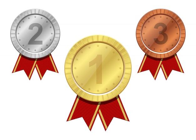 Zwycięzca medalu projekta wektorowa ilustracja na bielu