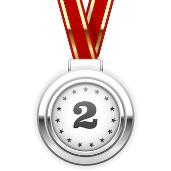 Zwycięzca srebrny medal na wstążce - ii miejsce