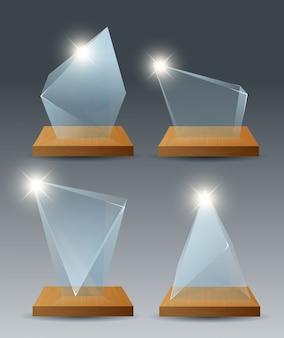 Zwycięzca szklane trofeum pierwsze miejsce