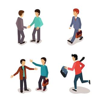 Zwykli ludzie. codzienna aktywność. zestaw ilustracji.