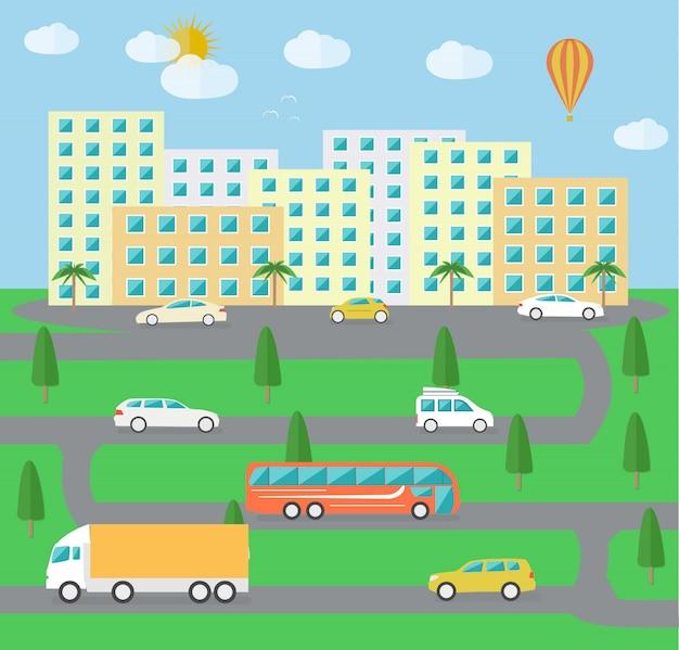 Życie miejskiego krajobrazu miejskiego
