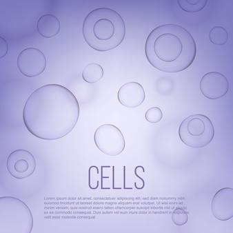 Życie naukowe biologii komórki tło naukowe.