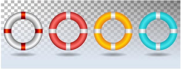 Życie pierścionku ikony ustalona ilustracja odizolowywająca na białym tle