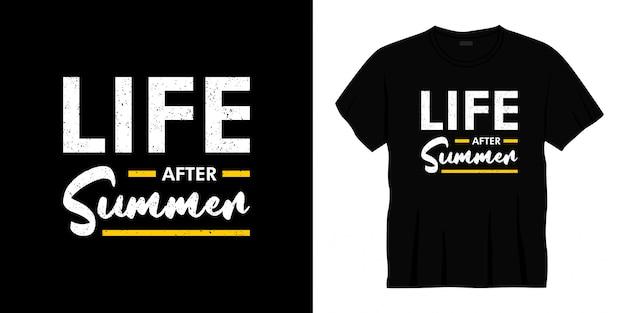 Życie po letnim projekcie koszulki typografii
