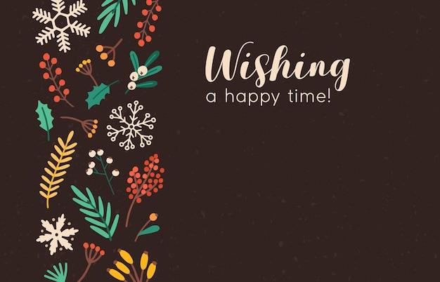 Życząc szablon transparent szczęśliwy czas.
