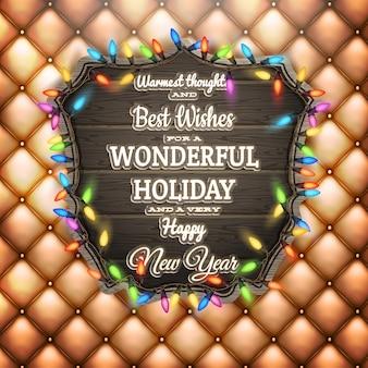Życzenia bożonarodzeniowe - drewniane.
