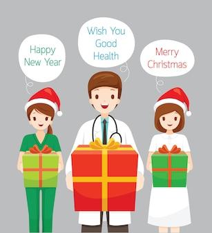 Życzenia bożonarodzeniowe lekarza i pielęgniarki