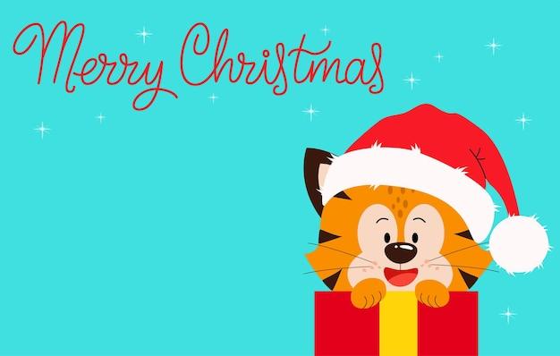 Życzenia bożonarodzeniowe z rokiem tygrysa dziękujemy za życzliwość w ciągu minionego roku