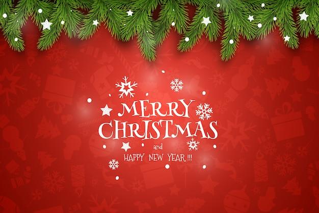 Życzenia świąteczne na czerwonym tle