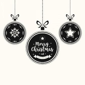 Życzenia świąteczne ozdoby bombki wiszące