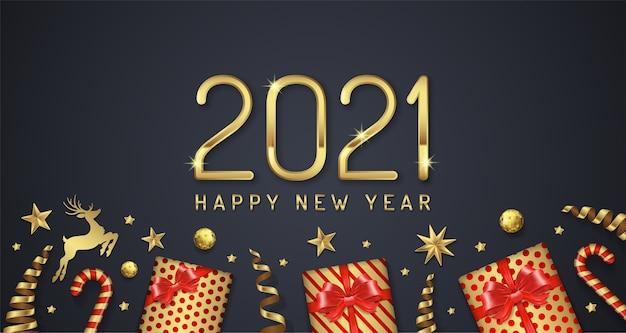 Życzenia szczęśliwego nowego roku 2021