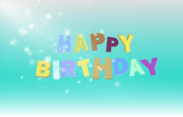 Życzenia urodzinowe z balonami kartkę z życzeniami wektor