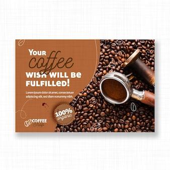 Życzenie szablonu transparent kawy