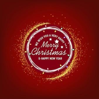 Życzymy ci bardzo szczęśliwego wesołych świąt i szczęśliwego nowego roku w tle