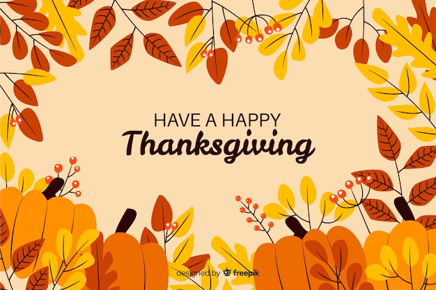 Życzymy szczęśliwego dziękczynienia suszonych liści i dyni
