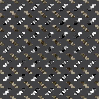 Zygzak wzór, abstrakcyjne tło geometryczne w stylu retro lat 80-tych, 90-tych. kolorowa ilustracja geometryczna