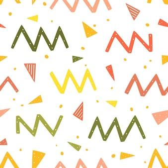Zygzakowate kropki i trójkąty bez szwu