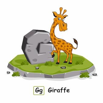 Żyrafa animal.lit g alfabet