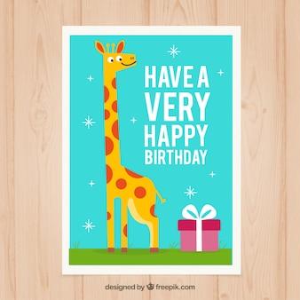 Żyrafa kartka urodzinowa