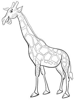 Żyrafa kreskówka zwierzę kolorowanka
