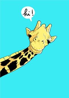 Żyrafa mówi cześć