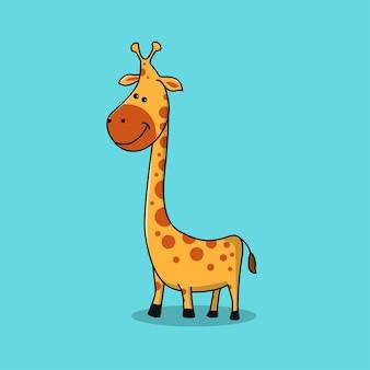 Żyrafa z wysoką szyją