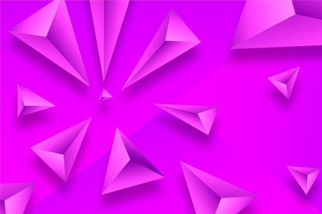 Żywe kolory tła trójkątów 3d
