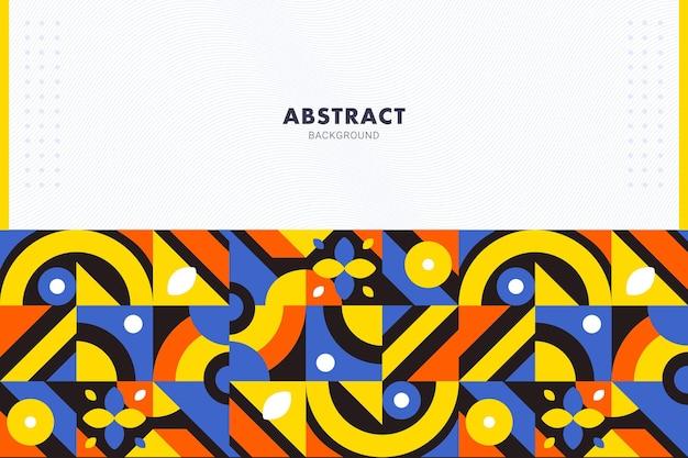 Żywe płaskie geometryczne mozaiki abstrakcyjne tło dla szablonu ulotki broszury