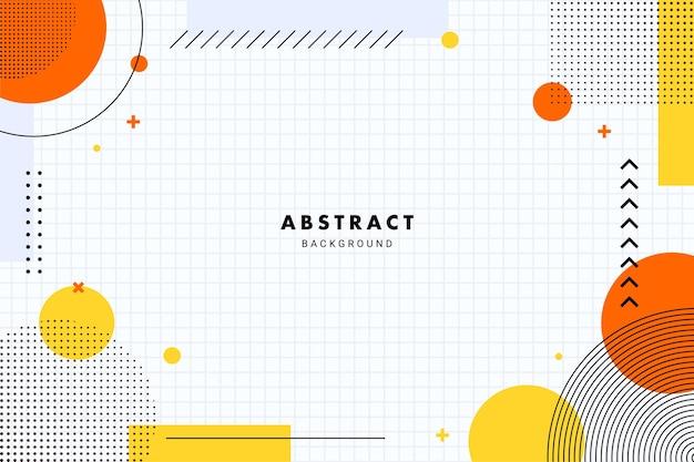 Żywe płaskie geometryczne tło dla transparentu ulotki broszury lub szablonu prezentacji