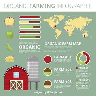 Żywność ekologiczna ekologicznym infografia
