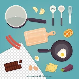 Żywność I Kuchnia Elementy Darmowych Wektorów