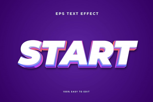Żywy efekt białego skosu tekstu