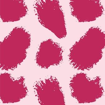 Żywy różowy abstrakcyjny wzór obrysu pędzla