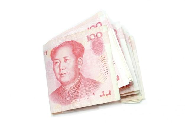 100 rachunków juanów krotnie odizolowane