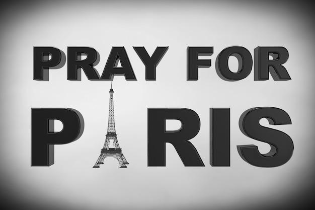 13 listopada 2015 r. koncepcja. módlcie się o znak paryża na białym tle