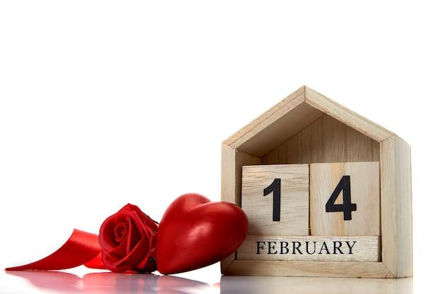 14 lutego z dekoracjami na walentynki