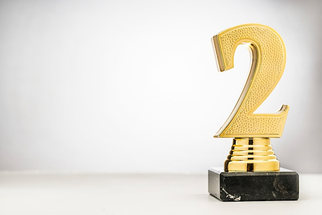 2 miejsce złote trofeum runners up z miejscem na kopię