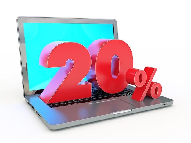 20 procent zniżki na laptop i zniżki w internecie