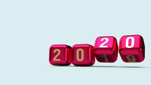 2020 złota liczba na kostkach