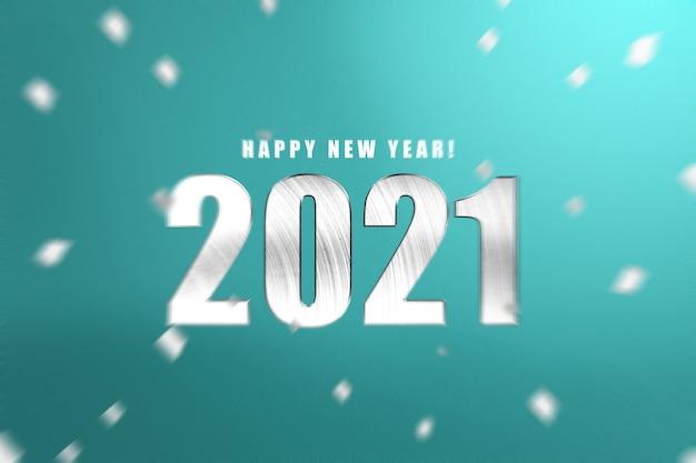 2021 na kolorowym tle. szczęśliwego nowego roku 2021